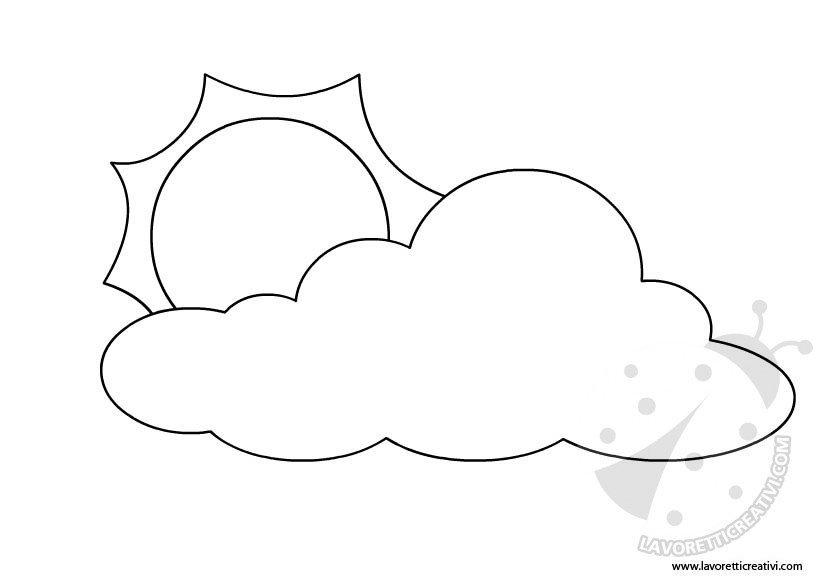 Simboli meteo lavoretti creativi for Sole disegno da colorare