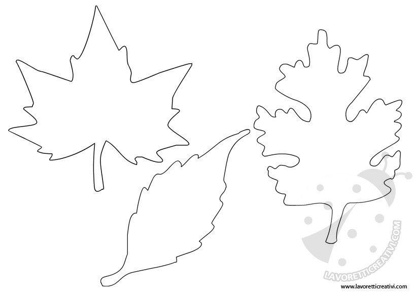 cartamodelli foglie