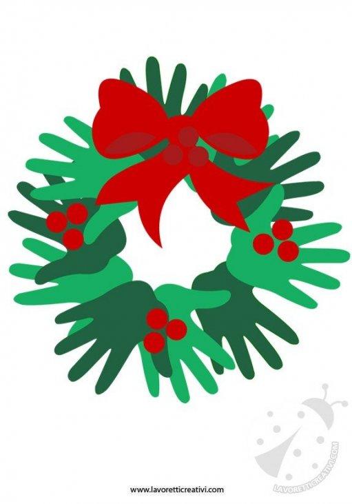 Lavoretti Di Natale Con Le Manine.Ghirlanda Di Natale Fai Da Te Lavoretti Creativi