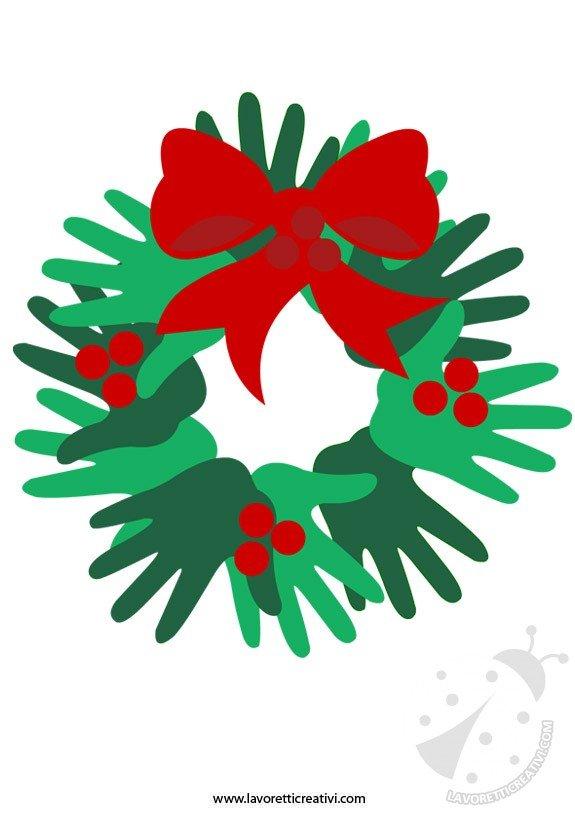 Lavoretti Di Natale Ghirlande Per Bambini.Ghirlanda Di Natale Fai Da Te Lavoretti Creativi