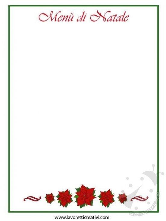 Menu Di Natale Da Stampare E Compilare.Menu Di Natale Da Stampare Lavoretti Creativi