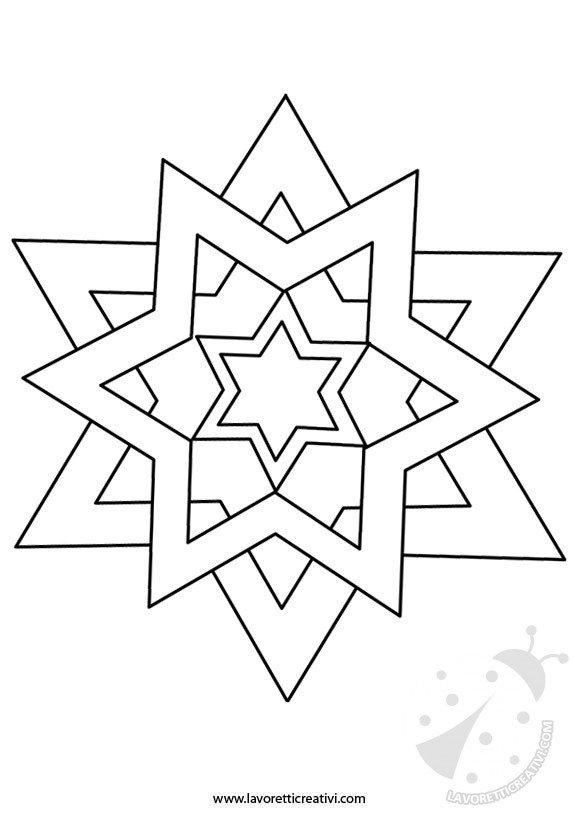 Stella Di Natale Da Colorare.Sagoma Di Stella Lavoretti Creativi