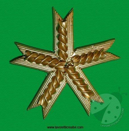 Come Costruire Una Stella Di Natale.Come Realizzare Una Stella Con La Pasta Lavoretti Creativi