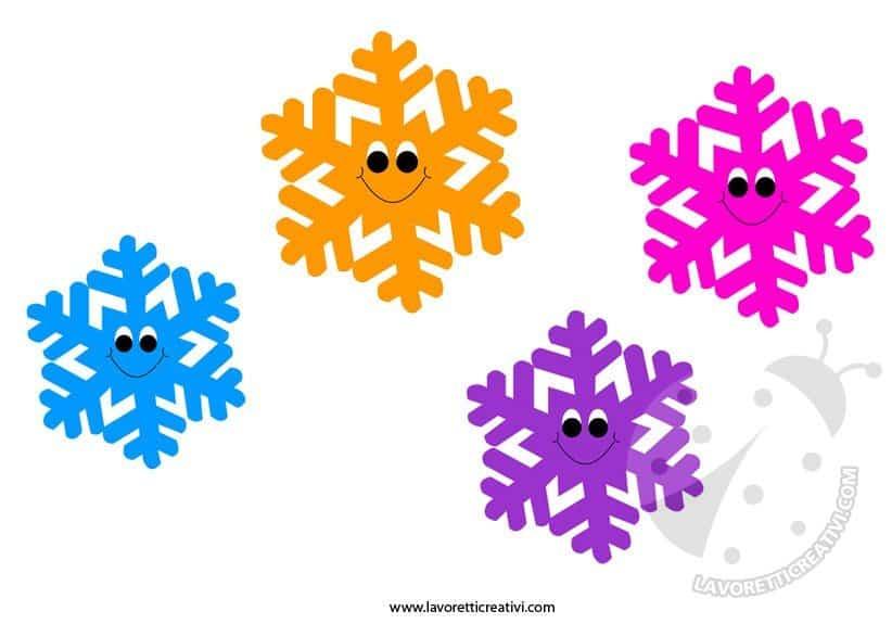 Addobbi invernali fiocchi di neve da ritagliare for Addobbi scuola infanzia
