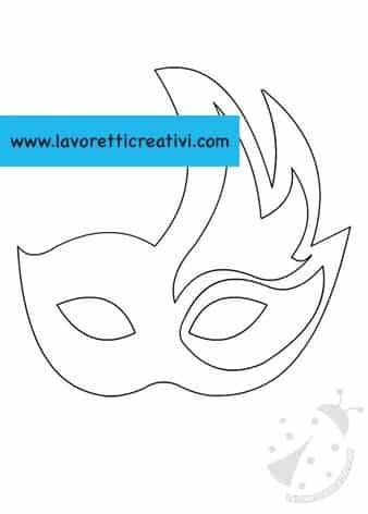 Sagoma mascherina veneziana