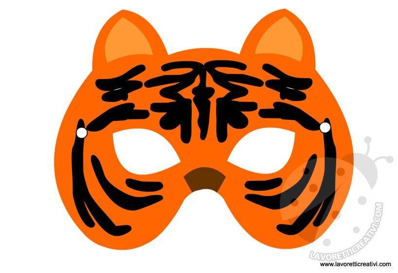 Maschere Di Animali Tigre Lavoretti Creativi