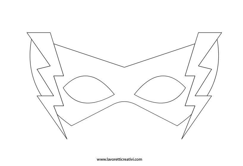Maschera Da Supereroe 1 Lavoretti Creativi