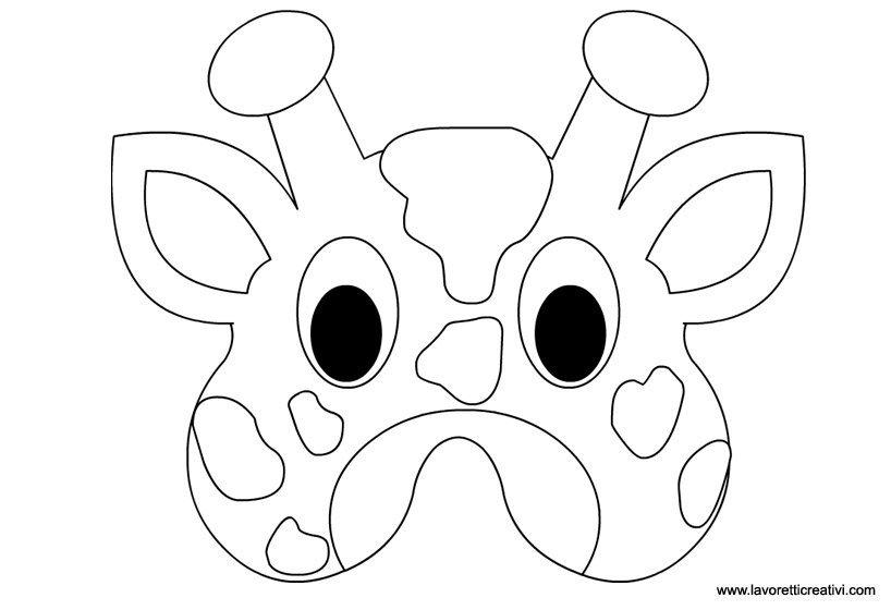 Maschere Di Animali Giraffa Lavoretti Creativi