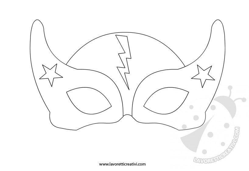 Maschera Da Supereroe 2 Lavoretti Creativi