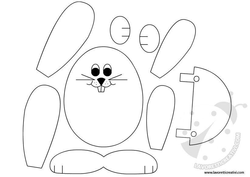 Sagome coniglio di Pasqua