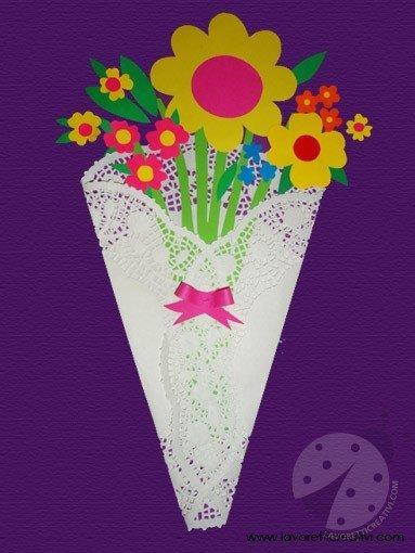 Bouquet fiori carta