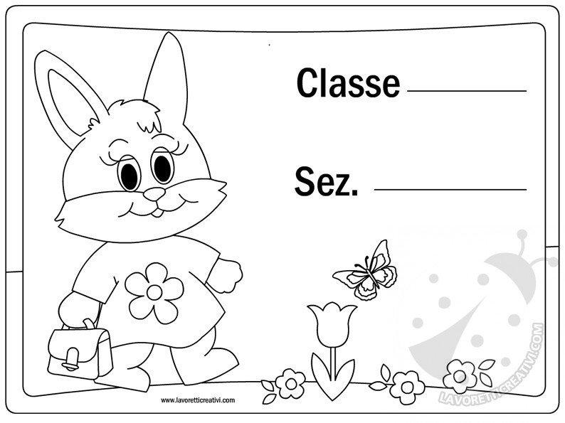 Cartello porta aula coniglietta lavoretti creativi for Cartelli per la porta dell aula da stampare