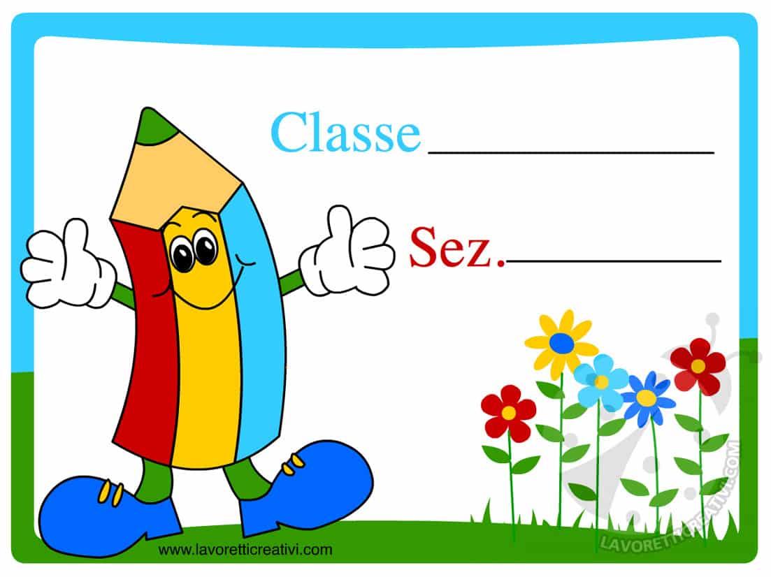 Cartello porta aula per scuola dell 39 infanzia lavoretti for Cartelli porta aula scuola primaria