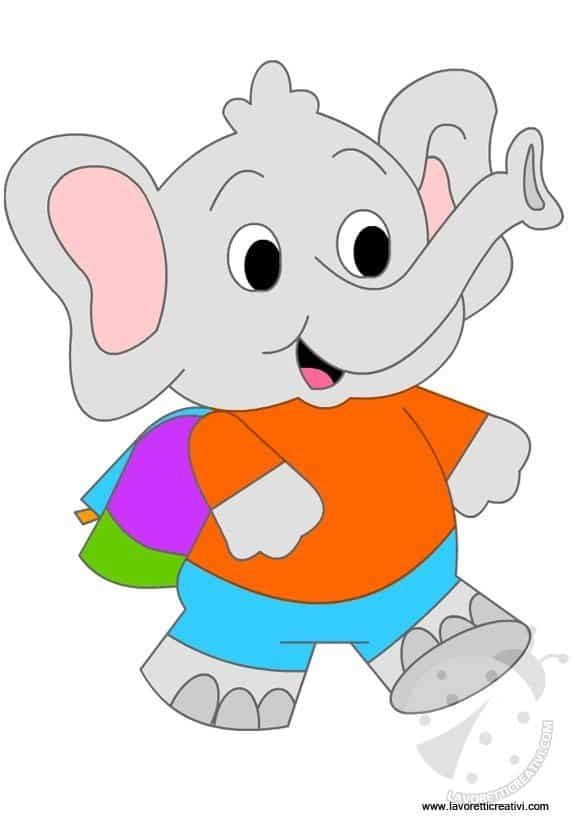 Addobbi Accoglienza Scuola Dell Infanzia Elefantino Lavoretti