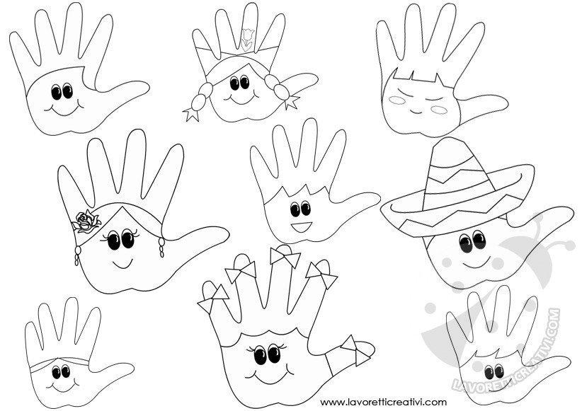 Idee per accoglienza scuola mani da colorare lavoretti for Lavoretti creativi accoglienza