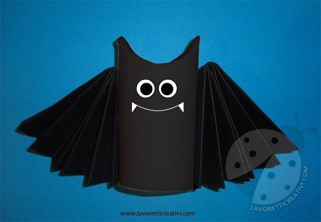 Rotoli Di Carta Colorata : Come realizzare un pipistrello con un rotolo di carta igienica