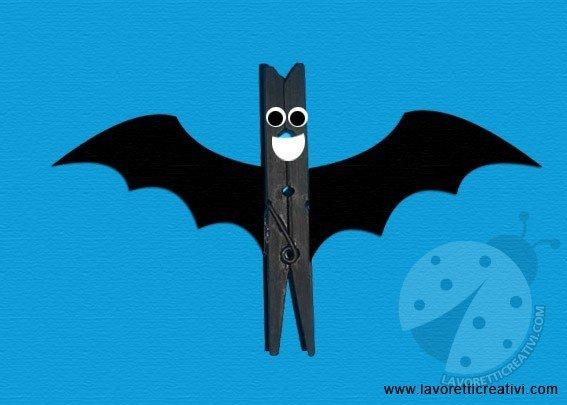 Pipistrello Molletta Legno 1 Lavoretti Creativi