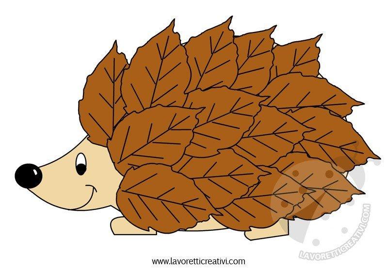 riccio-foglie-lavoretti-autunno-scuola