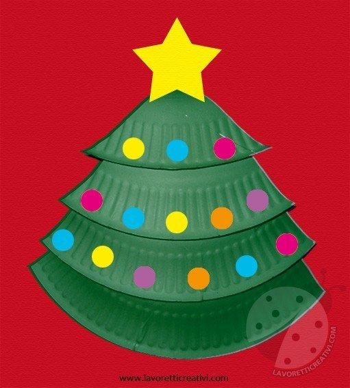 Lavoretti Di Natale Con Piatti Di Plastica.Albero Di Natale Con Piatto Di Carta Lavoretti Creativi