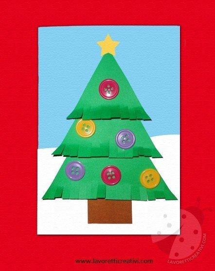 Lavoretti Creativi Albero Di Natale.Biglietto Con Albero Di Natale Lavoretti Creativi