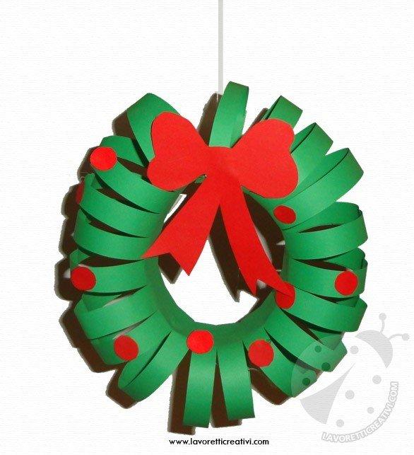 Lavoretti Di Carta Natale.Decorazioni Di Natale Ghirlanda Di Carta Lavoretti Creativi