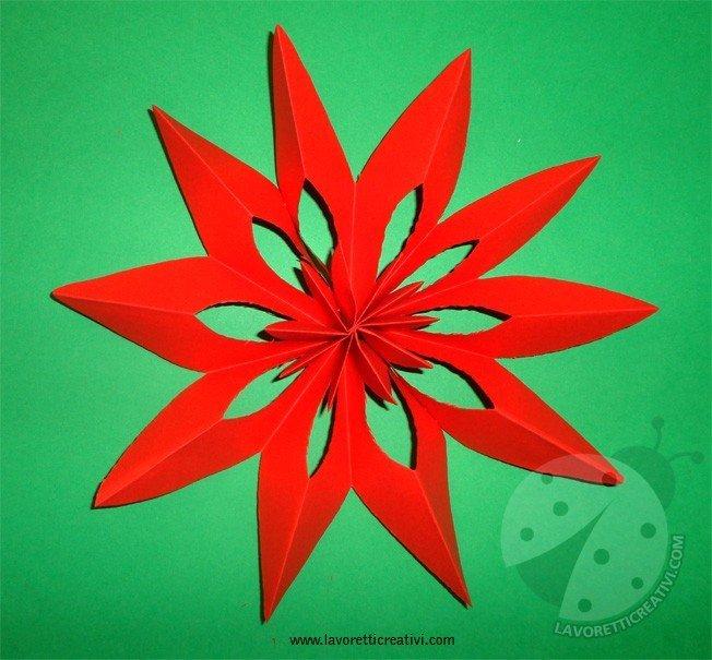 Come Costruire Una Stella Di Natale.Come Realizzare Una Stella Di Natale Di Carta Lavoretti Creativi