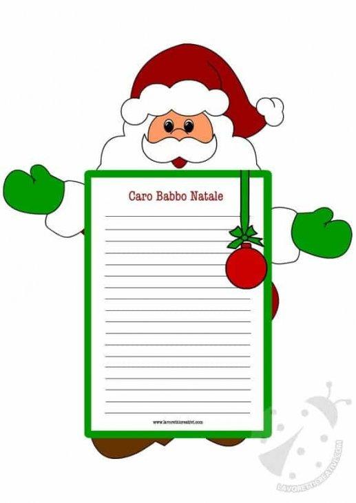 Letterine Di Natale.Letterine Di Natale Babbo Natale Lavoretti Creativi