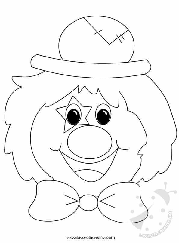 Addobbi carnevale clown lavoretti creativi for Pagliaccio da colorare