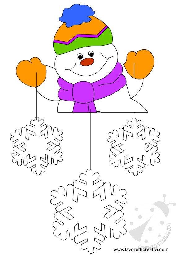 Addobbi invernali per la scuola lavoretti creativi - Decorazioni natalizie per porte e finestre ...
