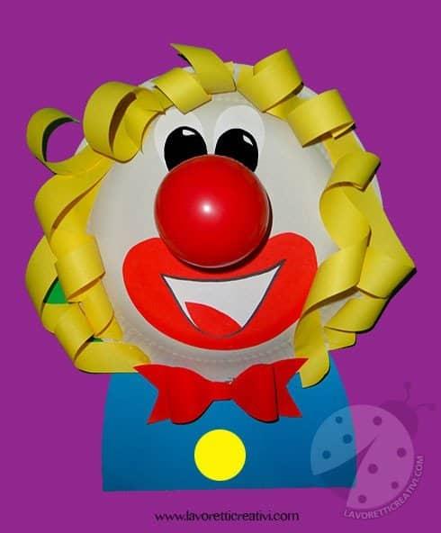 Lavoretti di carnevale pagliaccio lavoretti creativi for Immagini di clown da colorare