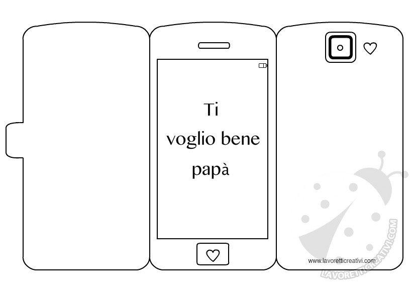 Biglietti per la Festa del Papà - Smartphone