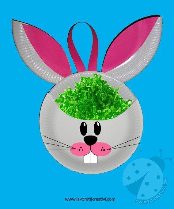 Lavoretti Pasqua - Coniglio porta ovetti