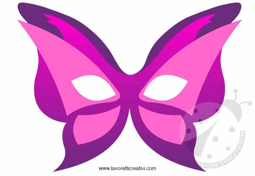 Maschera Farfalla Lavoretti Creativi