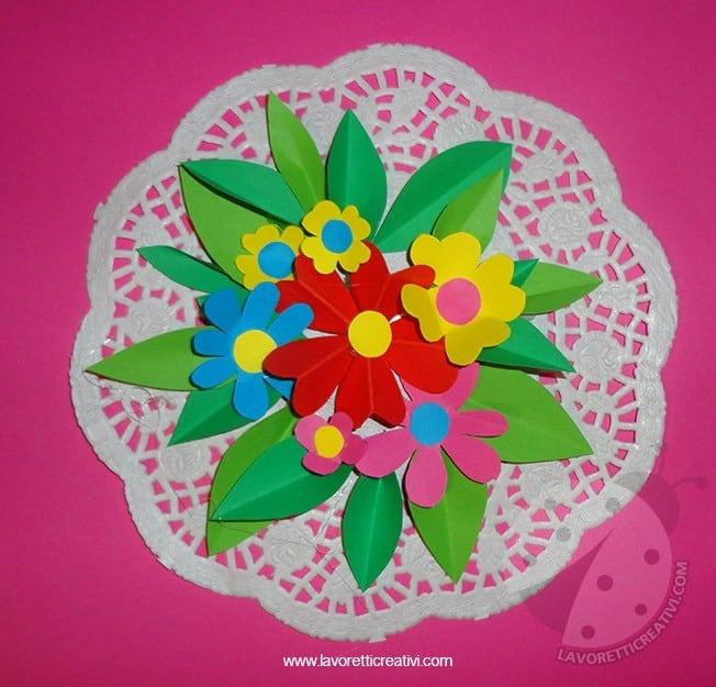 Festa della mamma mazzo di fiori lavoretti creativi for Maestra agnese carnevale