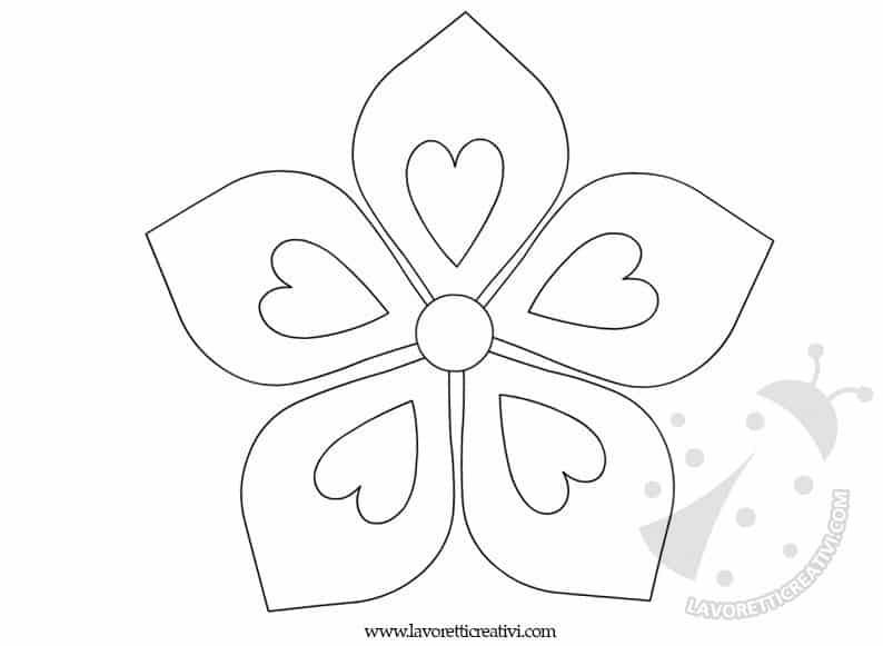 Sagome fiori lavoretti creativi for Fiori da colorare e stampare