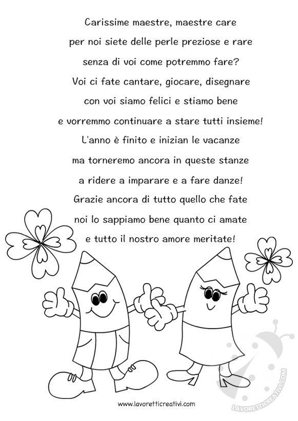 Poesia Per Maestre Lavoretti Creativi