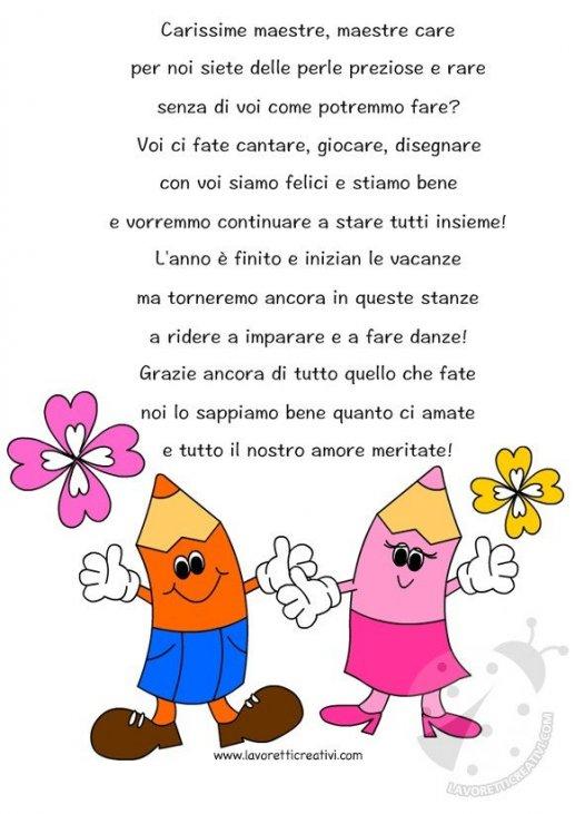 Poesie Di Natale Per Le Maestre.Poesia Per Maestre Lavoretti Creativi