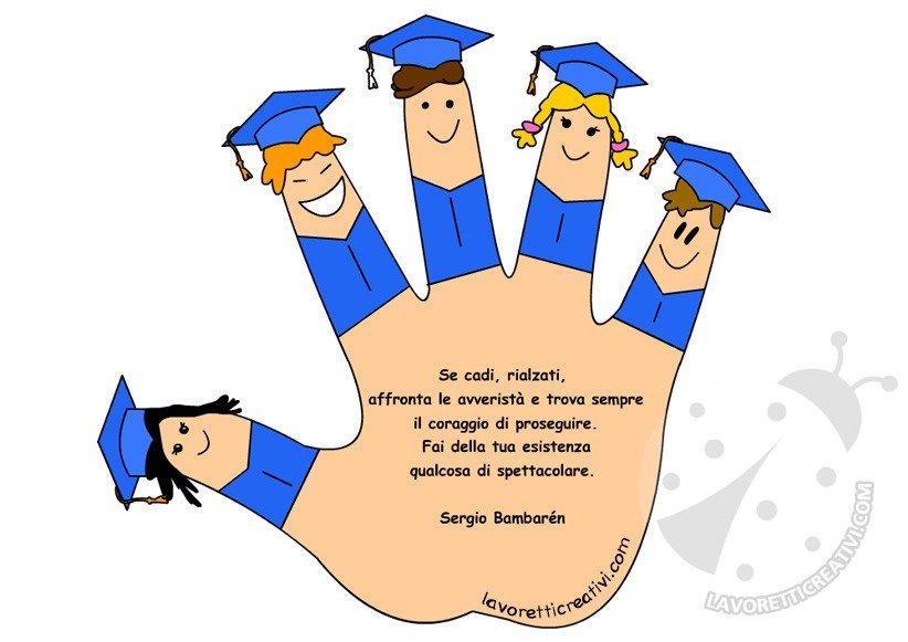 Saluti di fine anno scolastico lavoretti creativi for Frasi di saluto per bambini scuola infanzia