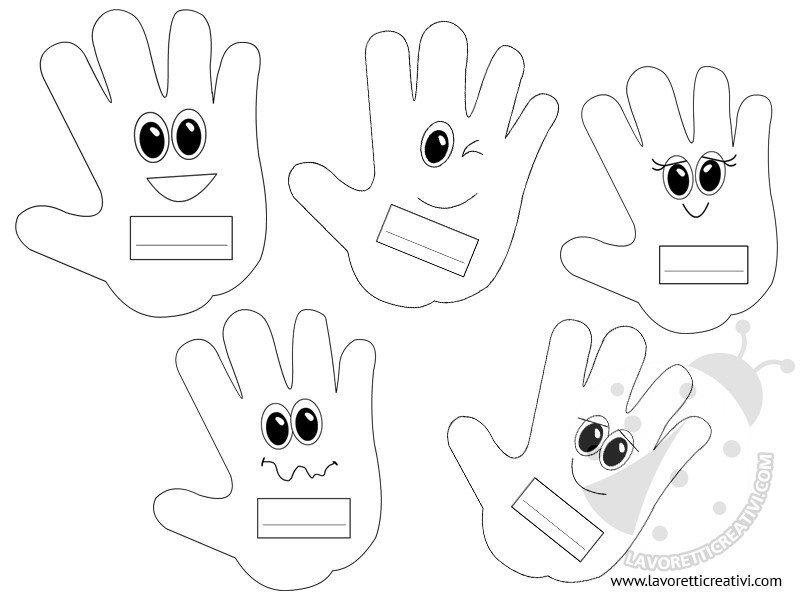 Idee per l 39 accoglienza mani portanome lavoretti creativi for Lavoretti accoglienza scuola infanzia
