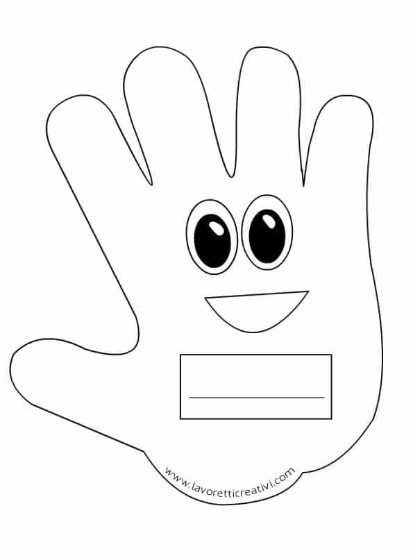 Idee per l 39 accoglienza mani portanome lavoretti creativi for Idee per l accoglienza nella scuola dell infanzia