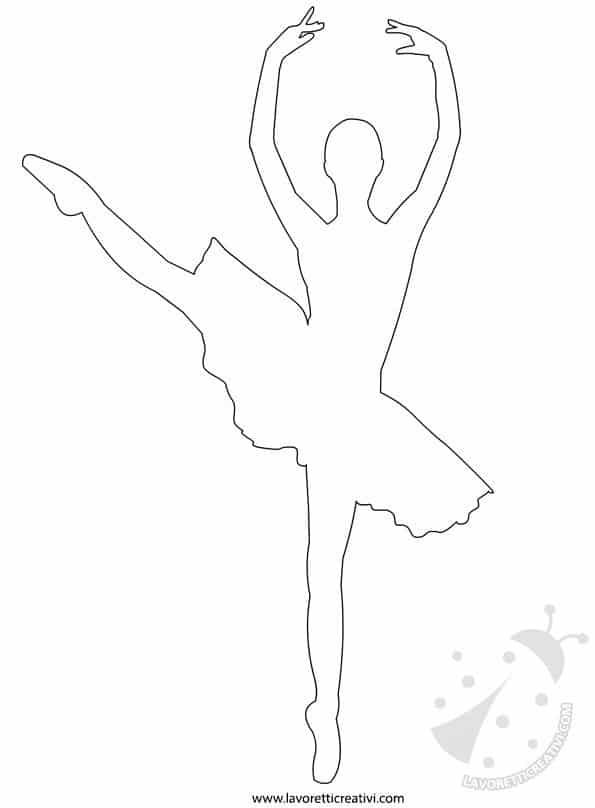 Sagome Ballerina Danza Classica Lavoretti Creativi