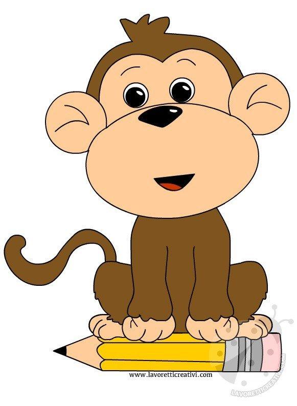 scimmia-matita-scuola