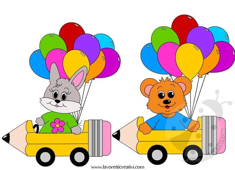 Striscione accoglienza scuola con animali lavoretti creativi for Addobbi scuola infanzia