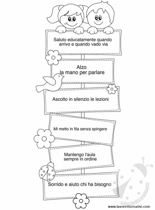 Cartellone Con Le Regole Della Classe Lavoretti Creativi