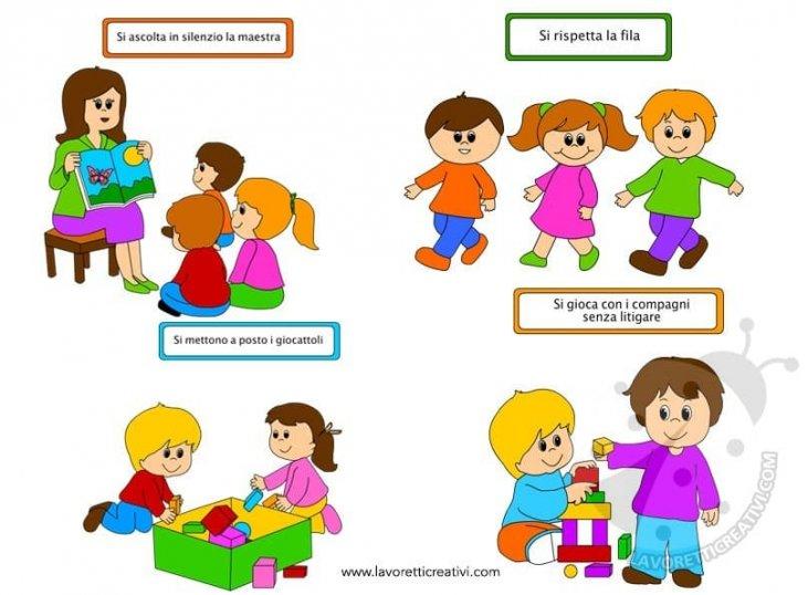Regole scolastiche con immagini - Lavoretti Creativi