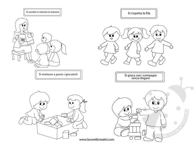 Regole scolastiche con disegni lavoretti creativi for Come costruire una palestra nella giungla
