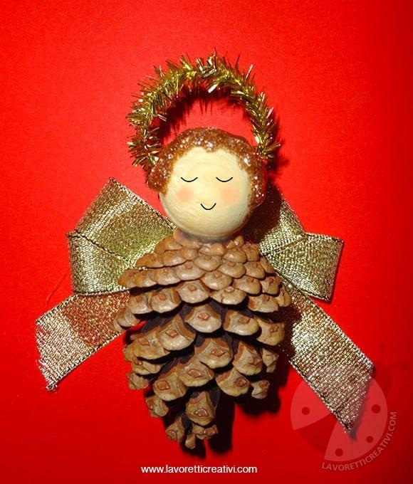 Addobbi Natale - Angelo con pigna