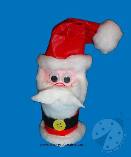 Lavoretti Di Natale Con La Carta Igienica.Babbo Natale Con Rotolo Carta Igienica Lavoretti Creativi