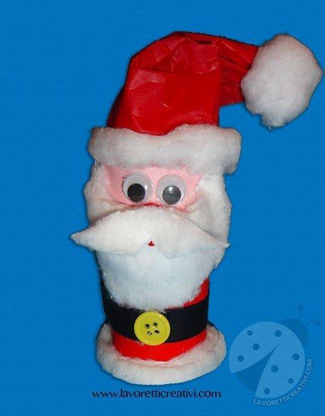 Babbo Natale Lavoretti.Babbo Natale Con Rotolo Carta Igienica Lavoretti Creativi
