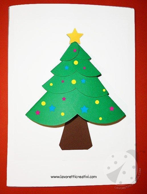Biglietto di Natale con cerchi di carta